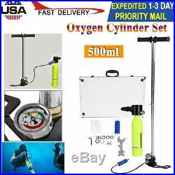 0.5L Portable Respirator Oxygen Cylinder Air Tank Pump Diving Equipment Set USA