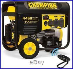 100433 CHAMPION POWER EQUIPMENT Portable Generator Gas Powered with 224cc Engine