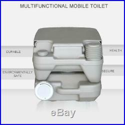 10L Portable Toilet Flush Travel Hiking Potty Camping Equipment Gray