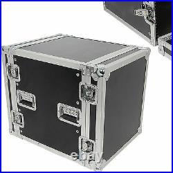 19 12U Equipment Patch Panel Flight Case Transit Storage Handle DJ PA Mixer Box