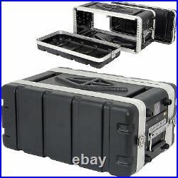 19 4U ABS Shallow Equipment Flight Case-Mixer/Patch Panel Storage Box Handle DJ