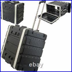 19 6U ABS Equipment Flight Case Trolley Mixer Patch Panel Rack Storage Handle