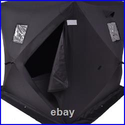 2-person Ice Fishing Shelter Tent Portable Pop up House Outdoor Equipment Black