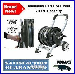 200 ft. Capacity 5/8-Inch Hose Reel Aluminum Cart Lawn Garden Watering Equipment
