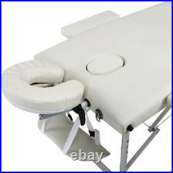3 Foldable 84 Massage Table Bed Aluminum Alloy Facial Tattoo Beauty Equipment