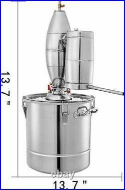 30L Stainless Alcohol Distiller Home Brew Kit Moonshine MAKING BOILER