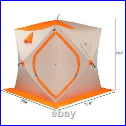 4 Person Ice Shelter Fishing Tent Waterproof Outdoor Camping Portable Equipment