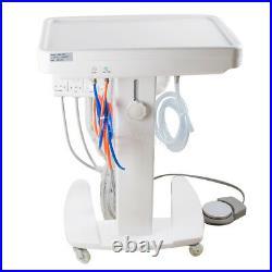 4 holes Dental Delivery Unit Mobile Cart lab Equipment portable + syringe SALE