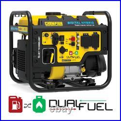 4000-Watt Recoil Start Dual Fuel Powered Open Frame Inverter Generator Equipment