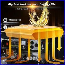 4200 Watt Portable Outdoor Gas Generator Power Equipment Recoil Start with Wheel