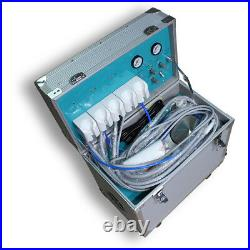 4Hole Portable Dental Delivery Treatment Cart Unit Equipment Mobile Rolling Case