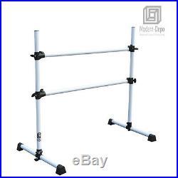 4ft Ballet Barre Portable Freestanding Double Bar Adjustable Stretch/Dance Bar