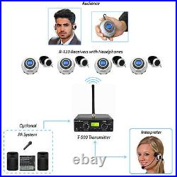 5-Person Translation Equipment with Interpreter Monitor & Headsets for Church
