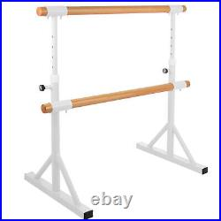 5FT Ballet Barre Double Bar Dance Stretch Training Equipment Smooth Pine Home