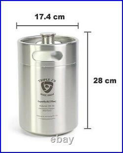 5L Mini Party Keg Draft Beer Dispenser Portable Home Brew Bar