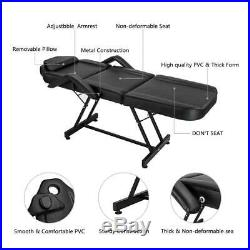 72 Adjustable Massage Table Bed Chair withStool Beauty Spa Tattoo Salon Equipment