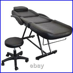 73 Adjustable Massage Table Bed Chair withStool Beauty Spa Tattoo Salon Equipment