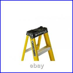 8 ft Step Ladder Fiberglass Type 1 Slip Proof Home Jobsite Workshop Equipment