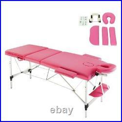84 3 Fold Aluminum Frame Massage Table Facial SPA Bed Health Tattoo Equipment