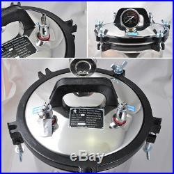 8L Portable Steam Autoclave Sterilizer Dental Equipment Stainless Seal Sterilize
