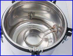 8L Portable Steam Autoclave Sterilizer dental Equipment Dual heating 110/220V AA