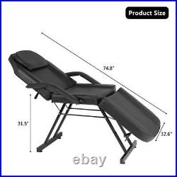 Adjustable Hydraulic Massage Bed Chair withstool Beauty Spa Tattoo Salon Equipment