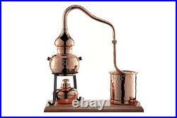 Alambic de luxe Dispositif de distillation 0,5 L avec réchaud