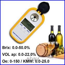 Alcohol Meter Refractometer Wine Brix Portable Digital Concentration Detect Test