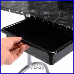 Black Manicure Nail Table Portable Station Desk Spa Beauty Salon Equipment