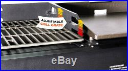 Blackstone Griddle Charcoal Grill Combo Heavy Duty Outdoor Cooking Equipment