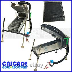 CASCADE 12V PORTABLE HIGHBANKER high banker with Fine GOLD Recovery Tray