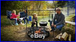 Campfire Cooking Equipment Set and Fire Ring Bundle Outdoor Camp BBQ Portable