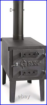 Camping Equipment Cast Iron Large Outdoor Wood Stove Portable Adjustable New