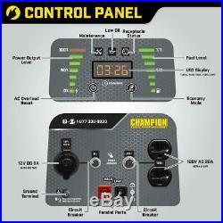 Champion Power Equip Portable Inverter Generator 2000-Watt Dual Fuel Stackable