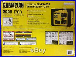 Champion Power Equipment 100148 1700/2000w Gasoline Inverter Generator New