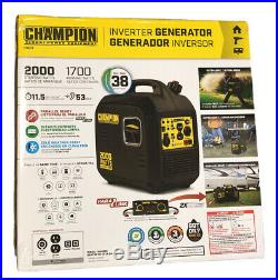 Champion Power Equipment #100478 Portable 2000 Watt Inverter Generator