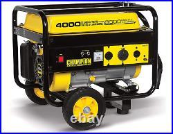 Champion Power Equipment Generator with Wheel Kit 3500/4000w RV/TAILGATE NEW 46597