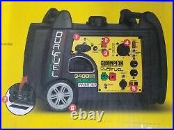 Champion Power Equipment Inverter Generator 100263 3400-Watt Dual Fuel