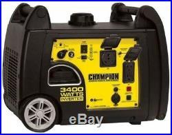 Champion Power Equipment Inverter Generator 3400W Gasoline Recoil Start Portable