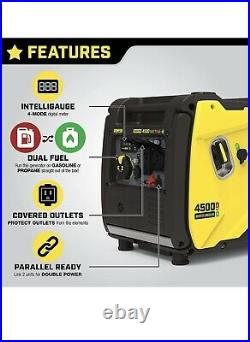 Champion Power Equipment Inverter Generator 4500-Watt Dual Fuel Electric Start
