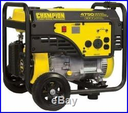 Champion Power Equipment Portable Generator 3800-W Gasoline Powered Recoil Start