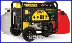 Champion Power Equipment Portable Generator 8000-Watt Dual Fuel Push-Botton