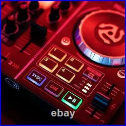 DJ Mixer Controller Equipment USB Mix Starter Kit With Sound Card & Light Show