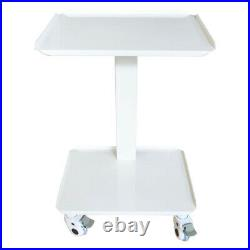 Dental Equipment Mobile Steel Cart Portable Assemable Double layer