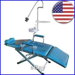 Dental Portable Mobile Chair Folding Chair Stool+ Dental Light Equipment