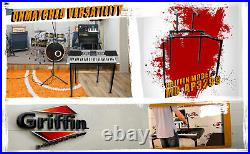 Double Piano Keyboard Stand 2Tier Studio Stage Mixer Laptop Mount DJ Turntable