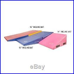 FlooringInc Incline Mats Portable Practice Tumbling Gymnastics Wedge Shape Mats