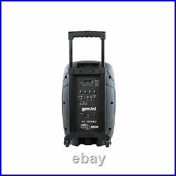 Gemini Pro DJ Audio Equipment 10 Inch Portable Wireless Bluetooth PA Speaker