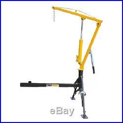 Hitch Mount Hydraulic Crane Portable Truck Trailer Lift Jobsite Shop Equipment