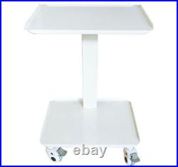 Intbuying New Dental Equipment Mobile Steel Cart Portable Assemable Double Layer
